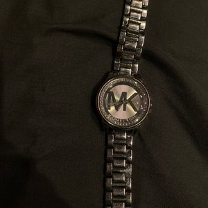 really cute Silver Michael Kors Watch with jewels